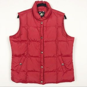 Athletech red down blend filled puffer vest